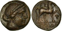 Ancient Coins - Coin, Aeolis, Kyme, Bronze Æ, Kyme, AU(50-53), Bronze, BMC:70-2