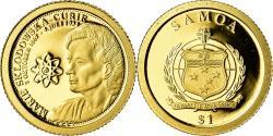 World Coins - Coin, Samoa, Marie Curie, Dollar, 2009, , Gold