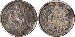Us Coins - Coin, United States, Seated Liberty Half Dime, Half Dime, 1872, U.S. Mint