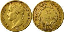 World Coins - France, Napoléon I, 20 Francs, 1808, Paris, , Gold, KM:687.1
