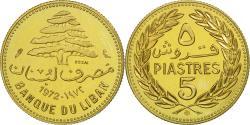 World Coins - Coin, Lebanon, 5 Piastres, 1972, Paris, ESSAI, , Nickel-brass, KM:E11