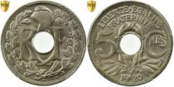 World Coins - Coin, France, Lindauer, 5 Centimes, 1920, Paris, PCGS, MS66,