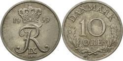 World Coins - Coin, Denmark, Frederik IX, 10 Öre, 1969, Copenhagen, , Copper-nickel