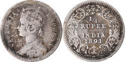 World Coins - Coin, INDIA-BRITISH, Victoria, 1/4 Rupee, 1891, Bombay, , Silver