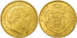World Coins - Coin, Monaco, Charles III, 100 Francs, Cent, 1882, Paris, , Gold