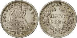 Us Coins - Coin, United States, Seated Liberty Half Dime, 1840 O, MS(60-62), KM 62.1