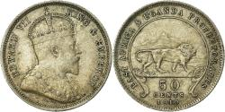 World Coins - Coin, EAST AFRICA, Edward VII, 50 Cents, 1910, , Silver, KM:4