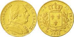 Ancient Coins - Coin, France, Louis XVIII, 20 Francs, 1815, Bayonne, AU(50-53), Gold, KM 706.4