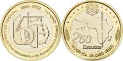 World Coins - Cape Verde, 250 Escudos, 2013, , Bi-Metallic