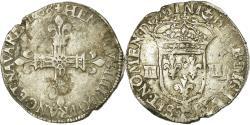 World Coins - Coin, France, Henri IV, 1/4 Ecu, 1608, Nantes, , Silver, Sombart:4678