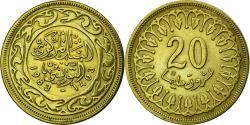World Coins - Coin, Tunisia, 20 Millim, 1983, EF(40-45), Brass, KM:307