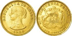 World Coins - Coin, Chile, 50 Pesos, 1926, Santiago, , Gold, KM:169