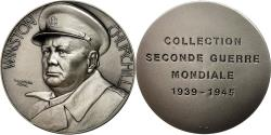 World Coins - France, Medal, Collection Seconde Guerre Mondiale, Winston Churchill, MS(63)