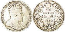 World Coins - Coin, Canada, Edward VII, 25 Cents, 1908, Royal Canadian Mint, Ottawa
