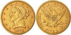 Us Coins - Coin, United States, Coronet Head, $5, Half Eagle, 1878, U.S. Mint, San