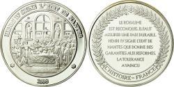 World Coins - France, Medal, Henri IV signe l'Edit de Nantes, , Silver