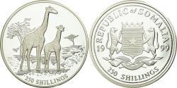 World Coins - Coin, Somalia, Girafes, 250 Shillings, 1999, Proof, , Silver, KM:105