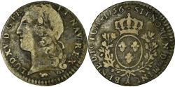 World Coins - Coin, France, Louis XV, 1/10 Écu au bandeau, 12 Sols, 1/10 ECU, 1756, Paris