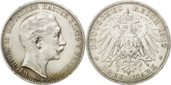 World Coins - German States, 3 Mark, 1912, Berlin, KM #527, , Silver, 33, 16.63