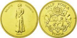 World Coins - Coin, Tonga, Queen Salote, 1/2 Koula, 1962, , Gold, KM:2