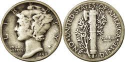 Us Coins - Coin, United States, Mercury Dime, Dime, 1940, U.S. Mint, Philadelphia