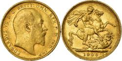 World Coins - Coin, Australia, Edward VII, Sovereign, 1906, Sydney, , Gold, KM:15