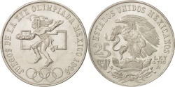 World Coins - Mexico, 25 Pesos, 1968, Mexico City, , Silver, KM:479.1