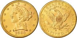 Us Coins - Coin, United States, Coronet Head, $5, Half Eagle, 1885, U.S. Mint, San
