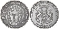 World Coins - Coin, Burkina Faso, Mary, Mother of Jesus, 1000 Francs CFA, 1 Silver Oz, 2015
