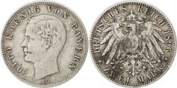 World Coins - German States, 2 Mark, 1896, Munich, KM #913, , Silver, 28, 11.02