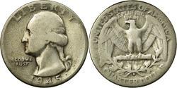 Us Coins - Coin, United States, Washington Quarter, Quarter, 1945, U.S. Mint, Denver
