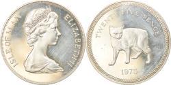 World Coins - Coin, Isle of Man, Elizabeth II, 25 Pence, 1975, Pobjoy Mint, Proof,