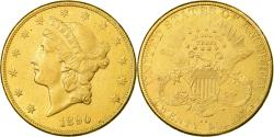 Us Coins - Coin, United States, Liberty Head, $20, Double Eagle, 1890, Carson City, Rare