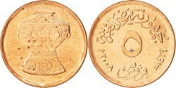 World Coins - Egypt, 5 Piastres, 2008, , Copper Plated Steel, KM:941a