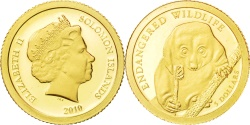 World Coins - SOLOMON ISLANDS, 5 Dollars, 2010, CIT, KM #123, , Gold, 11, 0.50