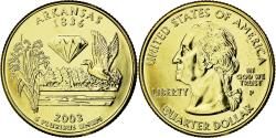Us Coins - Coin, United States, Arkansas, Quarter, 2003, U.S. Mint, , Gold plated