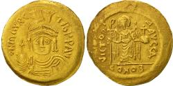 Maurice Tiberius, Solidus, Constantinople, , Gold, Sear:478