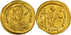 Ancient Coins - Coin, Justinian I, Solidus, 527-565 AD, Constantinople, , Gold