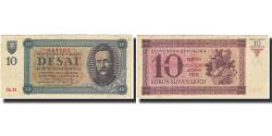 World Coins - Banknote, Slovakia, 10 Korun, 1943, 1943-05-20, KM:6a, UNC(65-70)