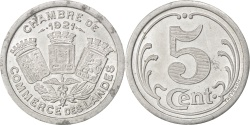 World Coins - France, 5 Centimes, 1921, , Aluminium, Elie #10.1, 1.33