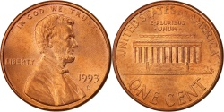 Us Coins - United States, Lincoln Cent, 1993, Denver, , KM:201b