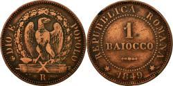 World Coins - Coin, ITALIAN STATES, ROMAN REPUBLIC, Baiocco, 1849, Roma, , Copper