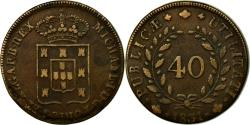 World Coins - Coin, Portugal, Miguel, 40 Reis, Pataco, 1831, Lisbon, , Bronze, KM:391