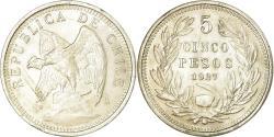 World Coins - Coin, Chile, 5 Pesos, 1927, Santiago, , Silver, KM:173.1