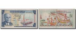 World Coins - Banknote, Tunisia, 1/2 Dinar, 1965, 1965-06-01, KM:62a, VF(20-25)