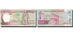 World Coins - Banknote, Malta, 2 Liri, Undated (1989), KM:41, UNC(65-70)