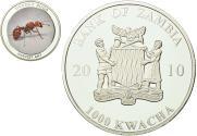 World Coins - Coin, Zambia, 1000 Kwacha, 2010, British Royal Mint, , Silver, KM:199
