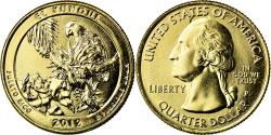 Us Coins - Coin, United States, El Yunque, Quarter, 2012, U.S. Mint, , Gold plated