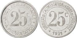 World Coins - France, 25 Centimes, 1921, , Aluminium, Elie #20.3, 1.28