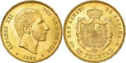 Ancient Coins - Coin, Spain, Alfonso XII, 25 Pesetas, 1881, Madrid, , Gold, KM:687